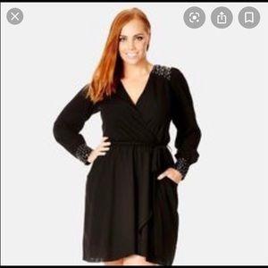 City Chic stud shoulder dress